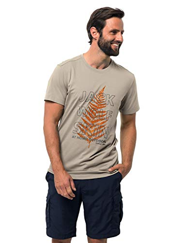Jack Wolfskin Herren Island Hill T-Shirt Dusty Grey, M