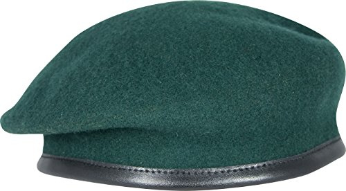 Military Army Berets - 100% Wool Silk Linked Leather Bow by Ammo & CO - All Regiments