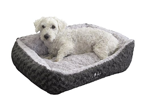 "Nobby 71184 Komfortbett für Hunde ""SEOLI"", 60 x 48 x 19 cm, dunkel- / hellgrau"