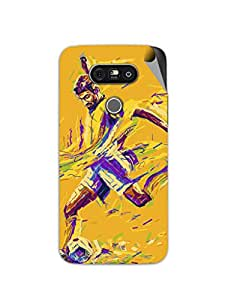 Miicreations Mobile Skin Sticker For LG G5,Colourful Football Player Pattern
