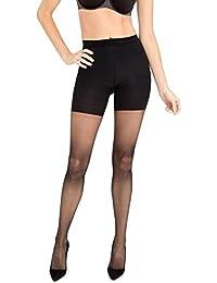 Spanx Womens Luxe Body-Shaping Butt & Leg Slimming Sheer Tights 60 Denier