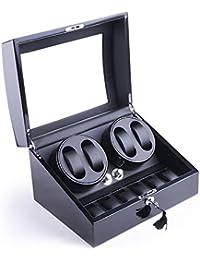Pawsfiesta Boîte à Montre Remontoir de Montre Mécanique Automatique 4 + 6 rangements en Cuir YLR2461B