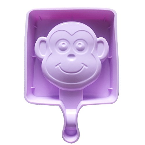 Qearly Blau Mode DIY Ice Popsicle Ice Cream Eis Am Stiel Form Stieleisformen Eisformen-Ein Stueck Affe (Ice Cream Maker Ball Frei)