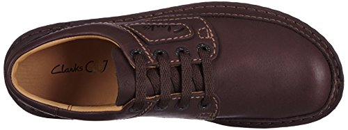Clarks Nature Ii, chaussures basses à lacets homme Marron (Ebony Leather)