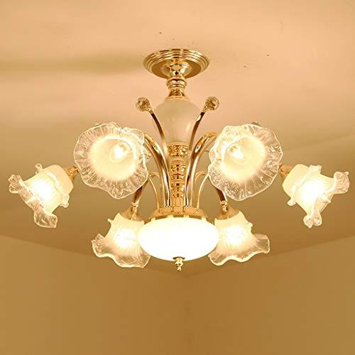 Arm-leuchter (ZLL Haushalts-Leuchter, Kristallpalast-Deckenlampe, Schmiedeeisen-Wand-Lampe Neue heiße Luxuxeuropäische Leuchter-Arm-Leuchter, Wohnzimmer-Luxus-Lampen Lüster De Chandeliers,Weißes Licht - sechs Lich)