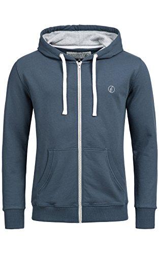 Herren Hoodie-s BANQERT - BASIC PRINCIPLE , Männer und Jungen Zip-Pullover , Zipper Sweater Kapuzenjacke-n , Kapuzenpulli-s Sweatshirt-s , Hoody Pulli Jacke , Sweatjacke-n Kapuzenpullover , Blau Dunkelblau L Large (Kapuzen Basic Zip Sweatshirt Herren)