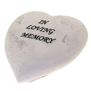 In Loving Memory Heart Stone Plaque Graveside Memorial Ornament