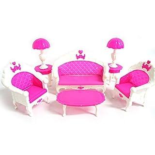Yosemite Mini Möbel Sofa Couch Stehlampe Tisch für Barbie Puppe Haus Zubehör