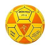 Mikasa FT5 Goal Master - Balón de fútbol, Color Naranja y Amarillo, Talla 5