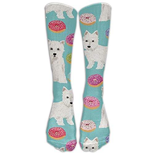 Westie Donuts Terriers Kniestrümpfe für Damen und Herren – Beste medizinische Socken für Stillen, Reisen und Flugreisen