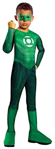 Green Lantern Hal Jordan Kostüm Kinder Kinderkostüm Superheld Grün Gr. S - L, Größe:L (Hal Jordan Kostüme)