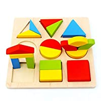 Grsafety Montessori Puzzle Learning Toys Knowledge Classification Box Wooden Toys Educational Number
