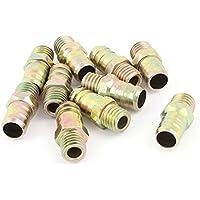 Sourcingmap - 10 pezzi tubo di ottone 10 millimetri sbavatura a 1/4