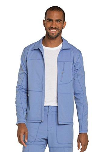 Dickies ''Dynamix' Men's Zip Front Warm-Up Jacket' Scrub Jacket Ciel Blue X-Large (Scrubs Blue Ciel)