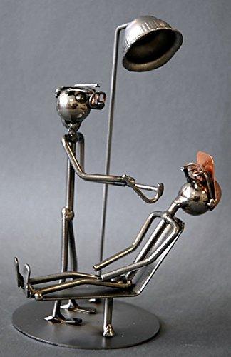 Zahnarzt als Schraubenmännchen Drahtmännchen Drahtfigur Schraubenkunst Metallmännchen Metallfigur Metallkunst