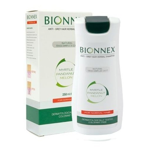 Bionnex ANTI-GREY HAIR HERBAL SHAMPOO For Normal Hair 250ml - For men and women