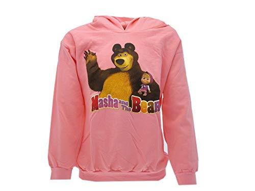 Masha& orso felpa con cappuccio colore rosa taglie 3/4-7/8 anni (7/8 anni)