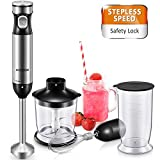 Hand Blender 4-in-1 Multifunctional Hand Blender 1000W High Power Immersion Blender with Stepless