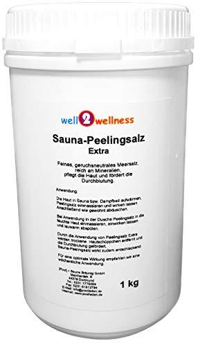 Sauna Peelingsalz Extra/Saunasalz fein 1,0 kg - 100{21be33bc3075f764993997983bcf658251cedc6c37f7c09c3939a5e7704e2354} naturrein aus dem Toten Meer