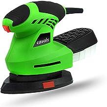 CASALS C07040000 Mini lijadora, 200 W, 230 V, Negro/Verde