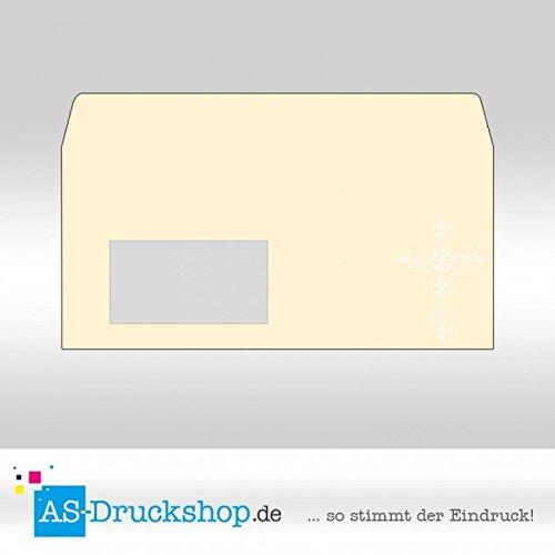 Fensterumschlag Konfirmation - Kommunion - Firmung - Gotik / Din Lang mit Fenster / 100 Stück