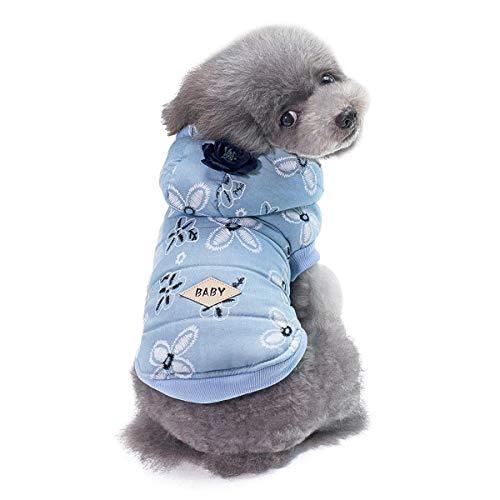 Jinxuny Winter Hund Kleidung Warme Jacke Mantel Hoodies Weiche Fleece Futter Mit Kapuze Puppy Kleidung für Kleine Mittelgroße Hunde (Size : L) -