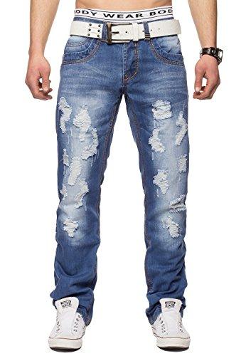 ArizonaShopping - Jeans Men's Jeans Destroyed Austin ID1332 Blue