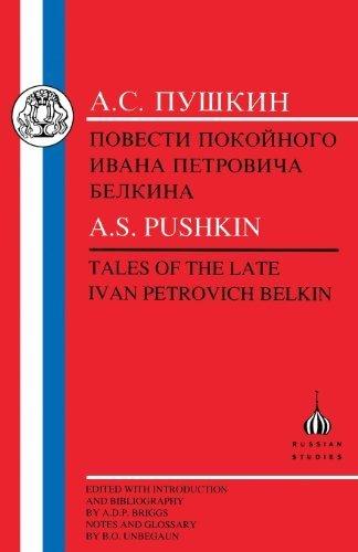 Portada del libro Pushkin: Tales of the Late Ivan Petrovich Belkin (Russian Texts) by Aleksandr Sergeevich Pushkin (1998-01-01)
