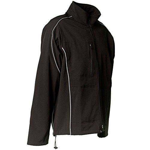 PLANAM - Twilight Softshell Jacke - Für ein optimales Körperklima und Regenschutz. Schwarz