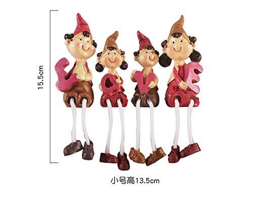 Phase Zwei Zubehör (Baoga [Zubehör Aussetzung Phase Puppe Ornamente 2 stücke/Set Wohnzimmer Handwerk Zimmer Figuren Cartoon Home Decoration)