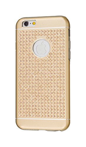 iShield® 6 Light Luxury Cases with Crystals from Swarovski® for iPhone 6/6S - Case Type: iShield® 6 Light Case Riches (Champagne Gold Satin Matte) - Swarovski Crystal Iphone Case