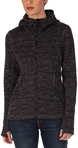 Bench Damen Pullover Strickjacke Horizon schwarz (Jet Black) Medium