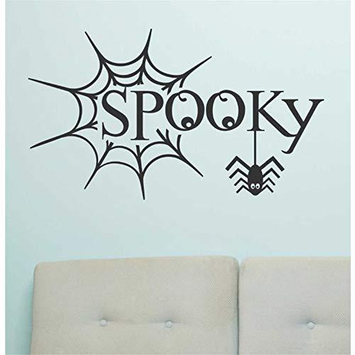 Zyzdsd Halloween Verzieren Spuk Spinnennetz Feiern Urlaub Design Schlafzimmer Tür Tapete Kinder Geschenk Aufkleber Vinyl Aufkleber Dekor (Spuk Halloween Buchstaben)