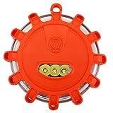 ACBungji Warnblinkleuchte LED Warnleuchte Warnlicht Akku Blinklicht Rundumleuchte Orange mit Magnet Haken für Auto Notfall Pannenhilfe Wasserdicht IP65 ideal als Ergänzung zum Warndreieck (1 Stück)