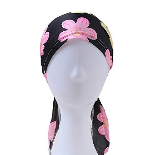 juqilu Frauen Kopf Schal Hut Bandana Blume Druckte Turban Headwear Headwrap für Haar...