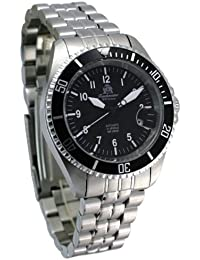 diver watch with Automatic Movement all stainless steel modell no.T0252 from Tauchmeister Germany