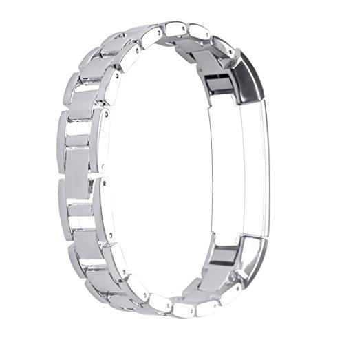 ür Fitbit alta hr,Metall Uhrarmband Bands,Ersatz Edelstahl Wristband Strap,Smart Watch Band armbänder Wrist Strap mit Metallschließe und Schnalle Ersatzarmband Replacement ()