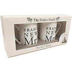 Mr. und Mrs. Tassen, Hochzeitsgeschenk, in Box