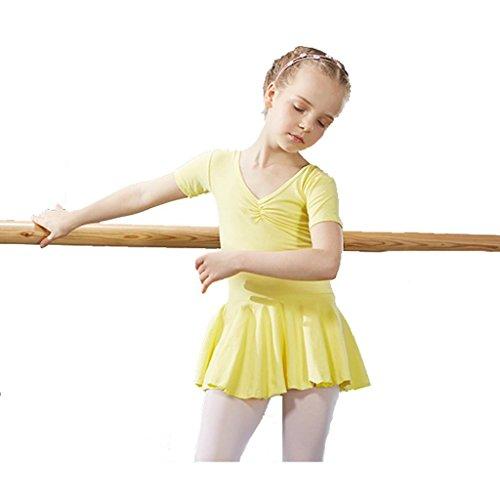 Byjia Ballett Gymnastik Praxis Match Kleidung Tanz Mädchen Kleid Kindergarten Kinder Prinzessin Tulle Party Kinder Bühnen Studenten Gruppe Team Leistung Kostüme 7# (Halloween 7 Gruppe Kostüme)