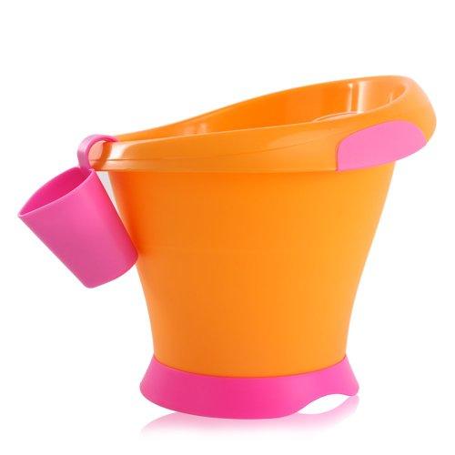 Mebby Baignoire pour Bébé Transportable - Fuchsia et Orange - 0 à 2 ans