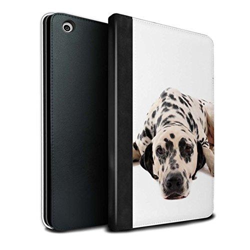 �lle/Case/Brieftasche für Apple iPad Mini 1/2/3 Tablet/Dalmatiner Muster/Hund/Hunde Kollektion ()