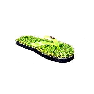 Blue Sky Grass Flat Green Slipper