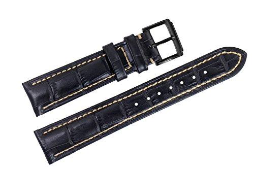 19mm-schwarz-handgemachte-italienische-lederersatzuhrenarmbander-bands-grosgrain-fur-high-end-uhren-