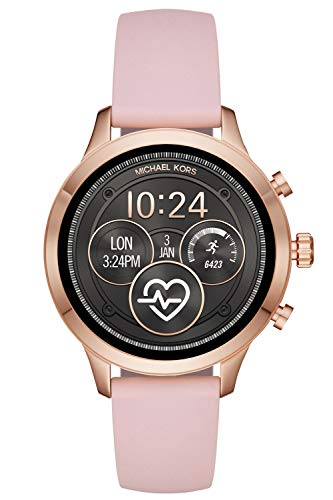 Michael Kors Damen Digital Smart Watch Armbanduhr mit Silikon Armband MKT5048