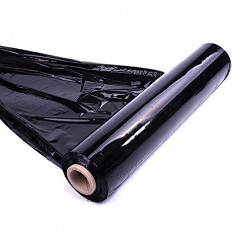 400mm x 800m 20Mu Schwarz Shrink Palette Paket Verpackung Schwarz, Rolle Stark