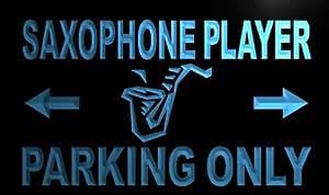 ADV PRO m406-b Saxophone Player Parking Only Neon Light Sign Barlicht Neonlicht Lichtwerbung