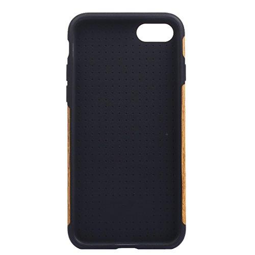 Für iPhone 7 Plus Teak Holz Korn Paste Haut Soft TPU Schutzhülle DEXING ( SKU : IP7P8000C ) IP7P8000D