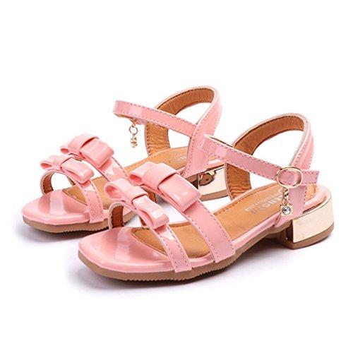 (Mädchen Open Toe Strap Sandalen Bowknot Sommer Low Heel Prinzessin Kleid Schuhe (Kleinkind/Kleines Kind))