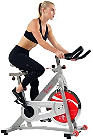 Sunny Health & Fitness Unisex Adult SF-B901B Belt Drive Indoor Cycling Bike - Silver, One