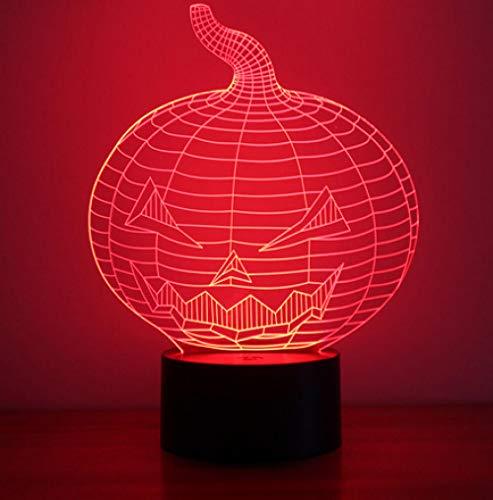 Joplc 3D Visuelle Led Vision nachtlicht USB Tischlampe Stimmung Kreative Halloween Kürbis Lampe Decor Leuchte Geschenke